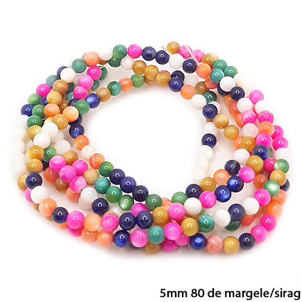 Margele sidef multicolor sferic 5mm sirag 38cm