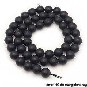 Onix mat nefatetat sferic 10mm margele sirag 38cm