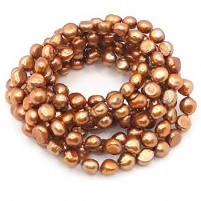 Margele perle de cultura bronz ovale neuniforme 10x8mm 10 perle