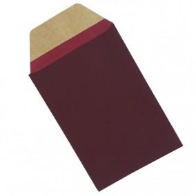 Plic cadou bijuterii cartonat cu banda adeziva grena mat 12x7cm
