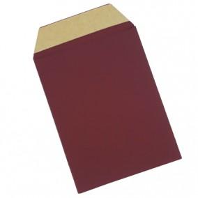 Plic cadou bijuterii cartonat cu banda adeziva grena mat 15x10cm