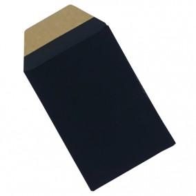 Plic cadou bijuterii cartonat cu banda adeziva negru mat 12x7cm