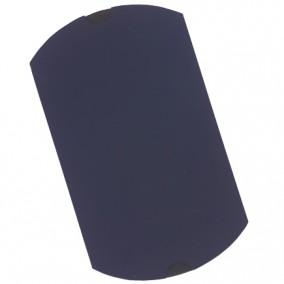 Plic cadou bijuterii tip perna cartonat cu autoformare bleumarin mat 20x12cm