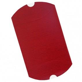 Plic cadou bijuterii tip perna cartonat cu autoformare rosu cu striatii 20x12cm