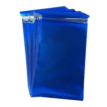 Pungi plic adeziv set albastru mat 12x7cm