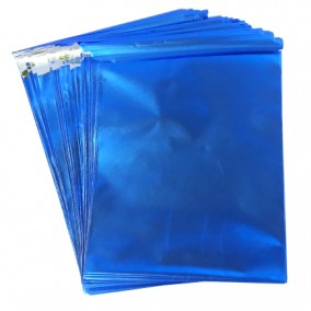 Pungi plic adeziv set albastru mat 15x12cm