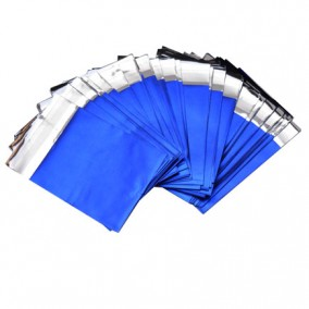 Pungi plic adeziv set albastru mat 7x6cm