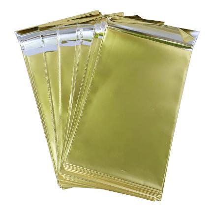 Pungi plic adeziv set auriu mat 12x7cm