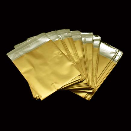 Pungi plic adeziv set auriu mat 7x6cm