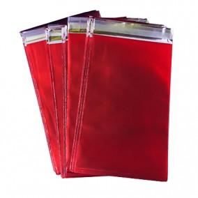 Pungi plic adeziv set rosu mat 12x7cm