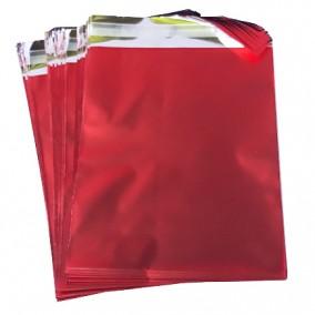 Pungi plic adeziv set rosu mat 15x12cm