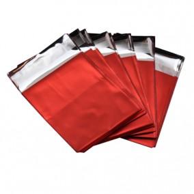 Pungi plic adeziv set rosu mat 7x6cm