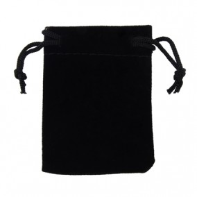 Saculet cadou catifea neagra 7x5cm