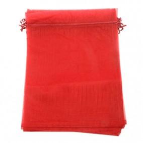 Saculeti organza rosu 18x13cm