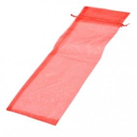 Saculeti organza rosu 34x13cm