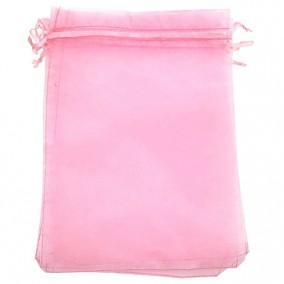 Saculeti organza roz 18x13cm