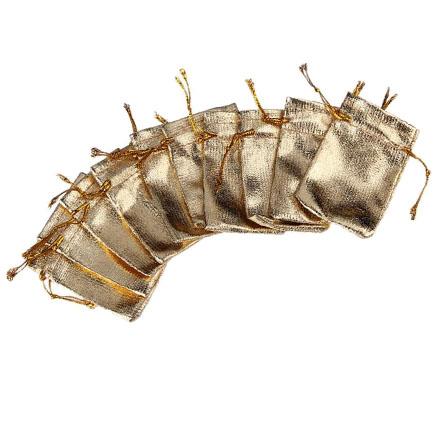 Saculeti metalici aurii 7x5cm