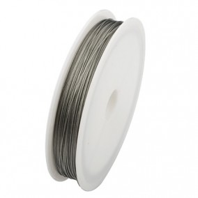 Sarma plastifiata argintie 0,3mm rola 100m