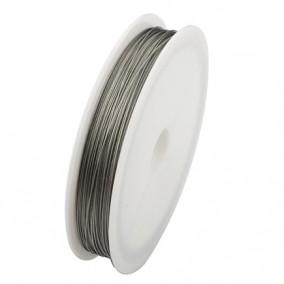 Sarma plastifiata argintie 0,5mm rola 50m