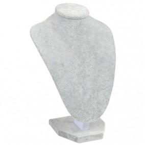 Bust coliere catifea gri fara burete 24x36cm