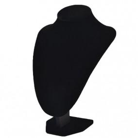 Bust coliere velur negru fara burete 16x20cm