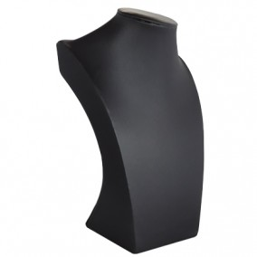 Bust satin gri expunere coliere 25x17cm