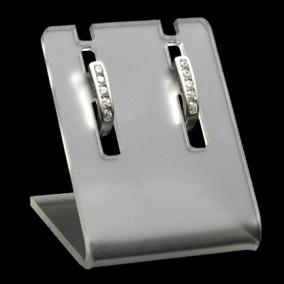 Suport acril transparent sablat expunere 1 pereche de cercei 3x3x3,5cm
