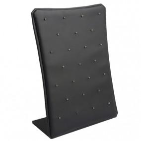 Suport piele ecologica negru drept vertical expunere 25 pandantive 27x19cm
