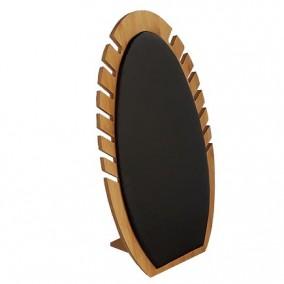 Suport bambus satin negru expunere coliere 33x18cm