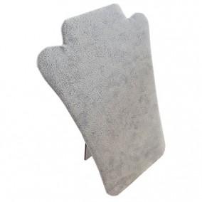 Suport placa catifea gri expunere coliere 17x22cm