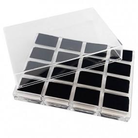 Suport caseta plastic 16 inele 14x10x4cm