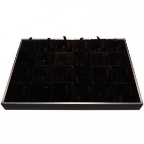 Suport satin catifea neagra pentru expunere 24 perechi de verighete 35x24x3cm