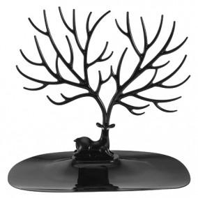 Suport bijuterii caprioara acril negru 20x25cm