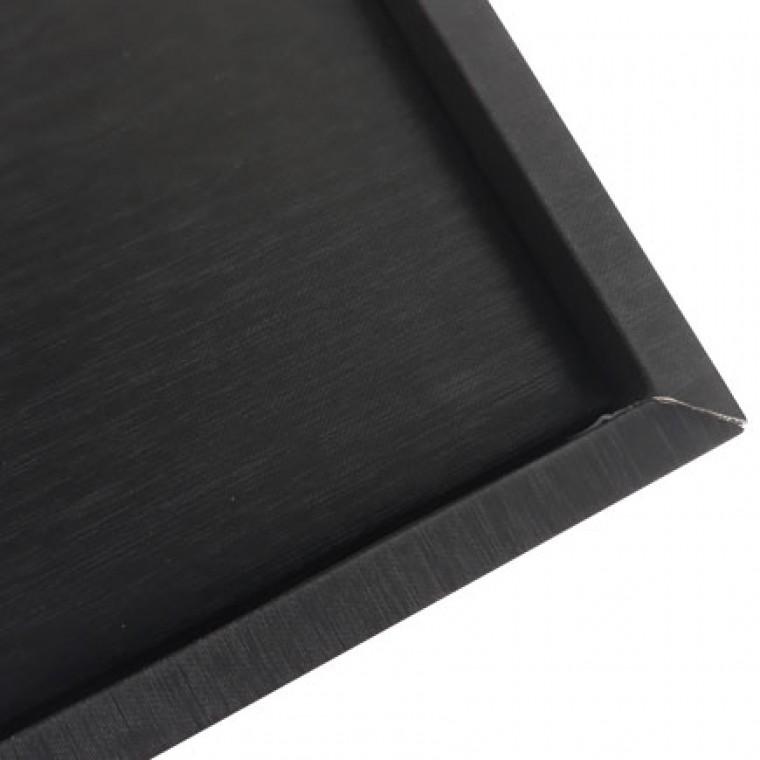 sosesc cea mai bună vânzare gânduri pe Tava satin negru prezentare bijuterii 22x15x2cm