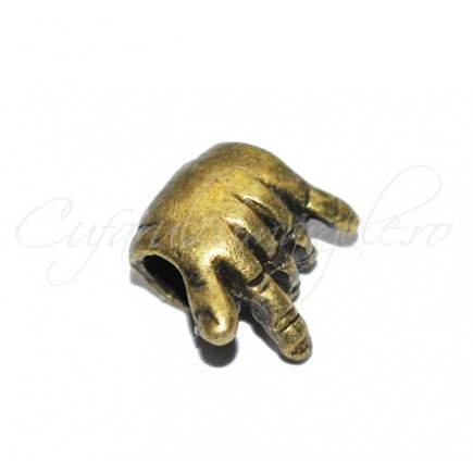 Margele metalice bronz rock on 10x5 mm