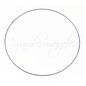 Baza siliconata colier albastru 45 cm