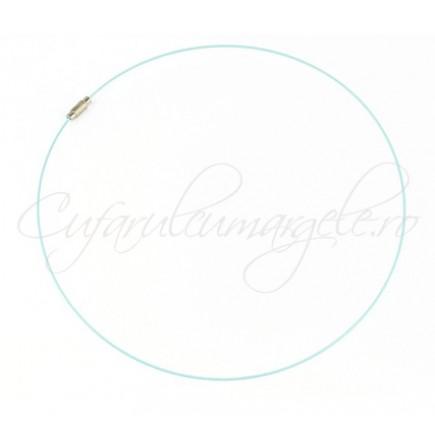 Baza siliconata colier bleu 45 cm