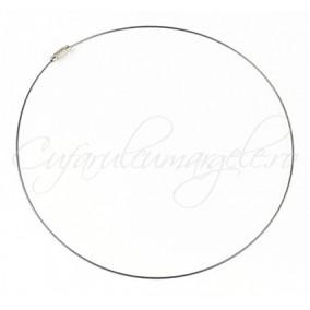 Baza siliconata colier gri 45 cm