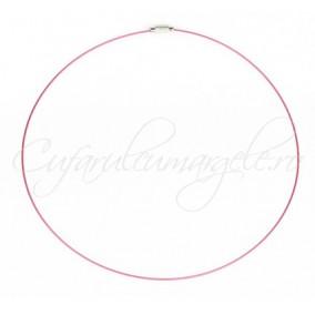 Baza siliconata colier roz 45 cm