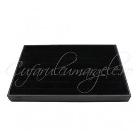 Tava catifea neagra 7 randuri expunere inele 35x24cm