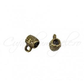 Agatatoare charm bronz 7x5mm