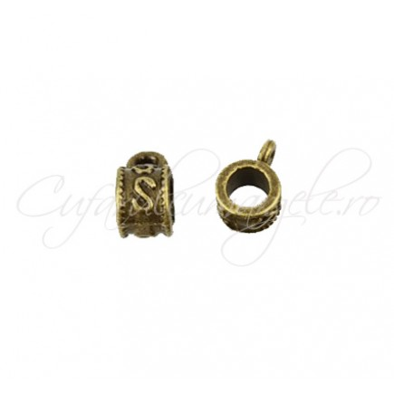Agatatoare charm bronz S 5x9mm