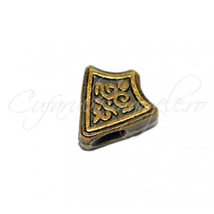 Margele metalice bronz spacer sageata 11x11x4 mm