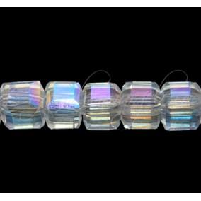 Cristale cub alb efect AB 4 mm