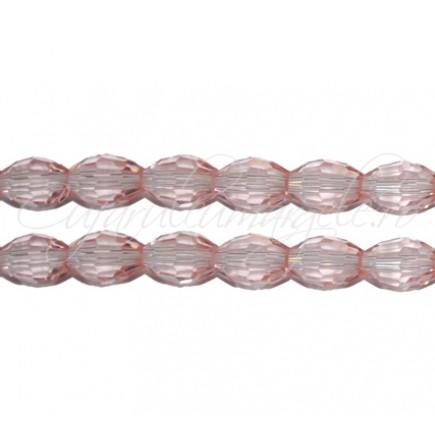 Cristal oval roz transparent 8x6 mm