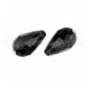 Cristale lacrima negru 15x10 mm