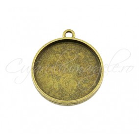 Baza cabochon bronz zodii Cancer 30x28mm