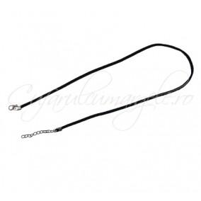 Baza colier faux suede negru 45 cm