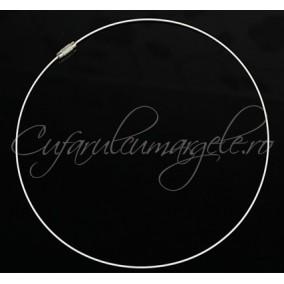Baza siliconata colier alb 45 cm