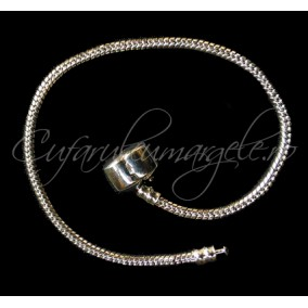 Baza bratara Pandora gri argintiu clasp 18 cm